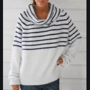 Mes Demoiselles Gaby Striped Cowl Sweater Small